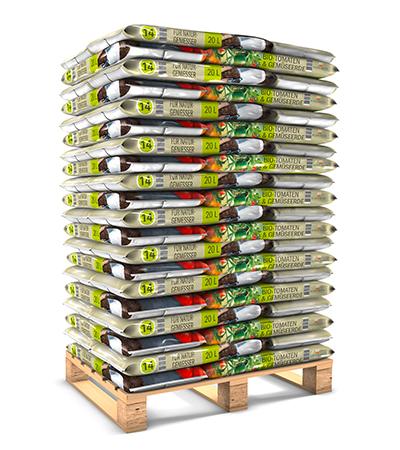 Palettenware 20 L Bio Tomaten und Gemüseerde torffrei von Kleeschulte Erden