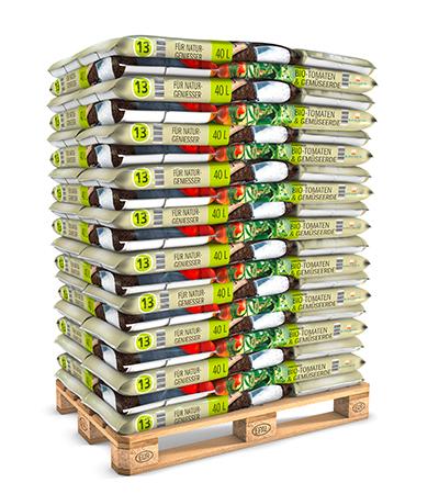 Palettenware 40 L Bio Tomaten und Gemüseerde torffrei von Kleeschulte Erden
